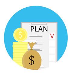 Finance plan icon vector