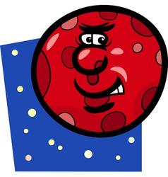 funny mars planet cartoon vector image vector image