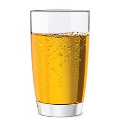 Glass of yellow juice vector image