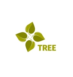 Isolated abstract green color leaves logo Tree vector image