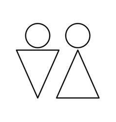 man and woman black color icon vector image vector image