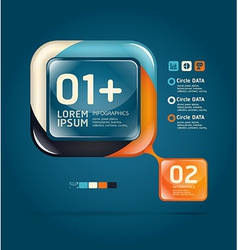 Modern glass color Design template vector image vector image