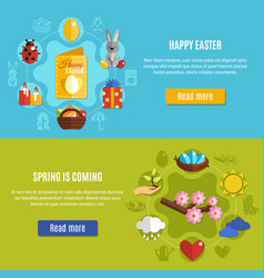 spring easter banners set vector image
