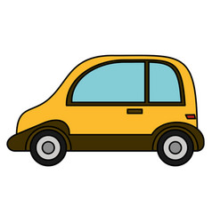 taxi transport automobile vehicle vector image vector image