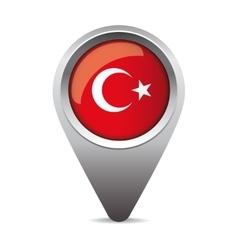 Turkey flag pointer vector image vector image