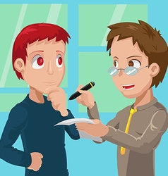 Two Business Man Meeting Talk vector image