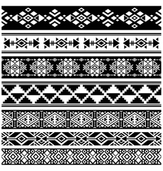 African and mexican aztec american tribal vector image vector image