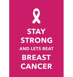 breast cancer poster vector image vector image