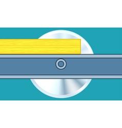 Circular sawing vector
