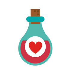 love potion bottle saint valentines icon image vector image vector image