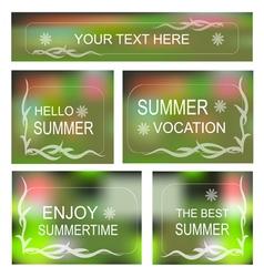 Summertime background Decorative frame set vector image vector image