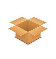 Brown paper open box vector image