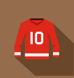 canadian hockey jersey icon flat style vector image