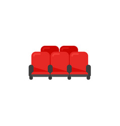 cinema theater red chairs in flat style vector image