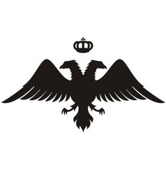 double headed eagle silhouette vector image