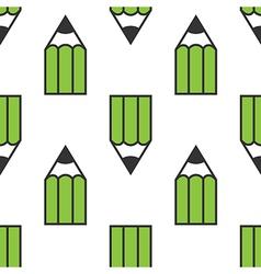 Green pencils seamless pattern vector image vector image