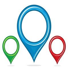 Navigation pin resize vector image vector image