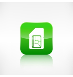 Sim card web icon Application button vector image