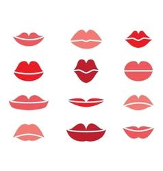 woman lips vector image