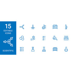15 scientific icons vector
