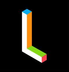 3d colorful letter l logo icon design template vector image