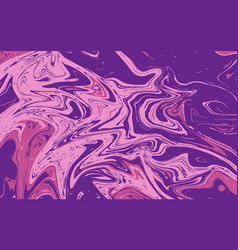 abstract liquid texture violet marble background vector image