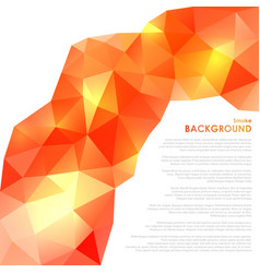abstract triangular orange background vector image