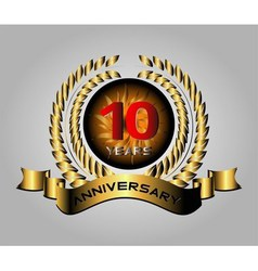 Anniversary laurel wreath 10 years vector