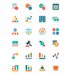Banking and Finance Colored Icons 2 vector image