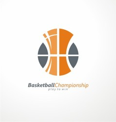 Basketball championship logo idea vector