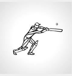 batsman athlete playing cricket vector image