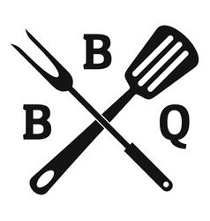 bbq logo simple style vector image