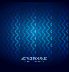 Blue background with wavy lines pattern vector