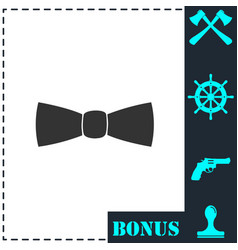 Bow tie icon flat vector