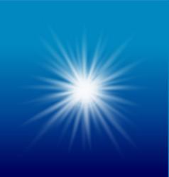 burst of sun light vector image