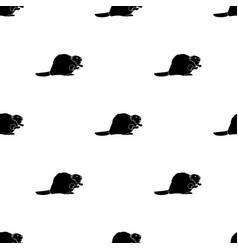 canadian beaver canada single icon in black style vector image