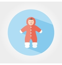 Child in winter overalls icon vector image
