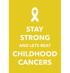 childhood cancers poster vector image