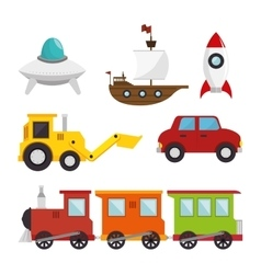 Children toys set icons vector