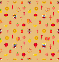 Chinese new year graphic seamless pattern vector