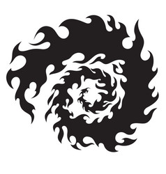 Circle flames for tattoo or sticker vector