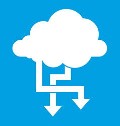 Cloud and arrows icon white vector