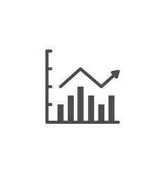 Column chart icon and infographic concept vector