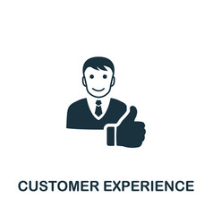 customer experience icon symbol creative vector image