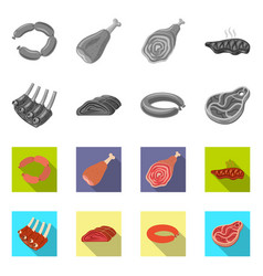 Design of meat and ham logo collection of vector