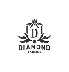 diamond jewelry luxury logo design template vector image