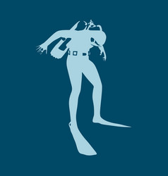 diving sport concept vector image