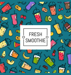 doodle smoothie background and pattern vector image