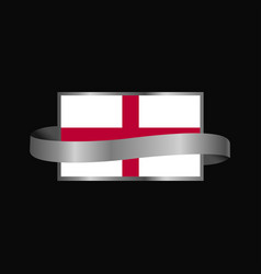 england flag ribbon banner design vector image
