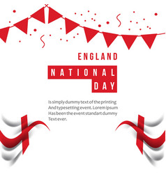 England national day template design vector